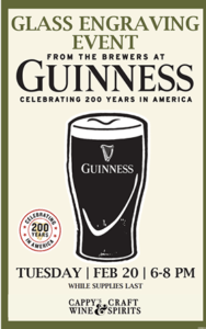 Guinness Engraving @ Cappy's | Loveland | Ohio | United States