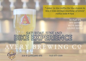 Avery Bike Experience at Cappy's @ Cappy's | Loveland | Ohio | United States